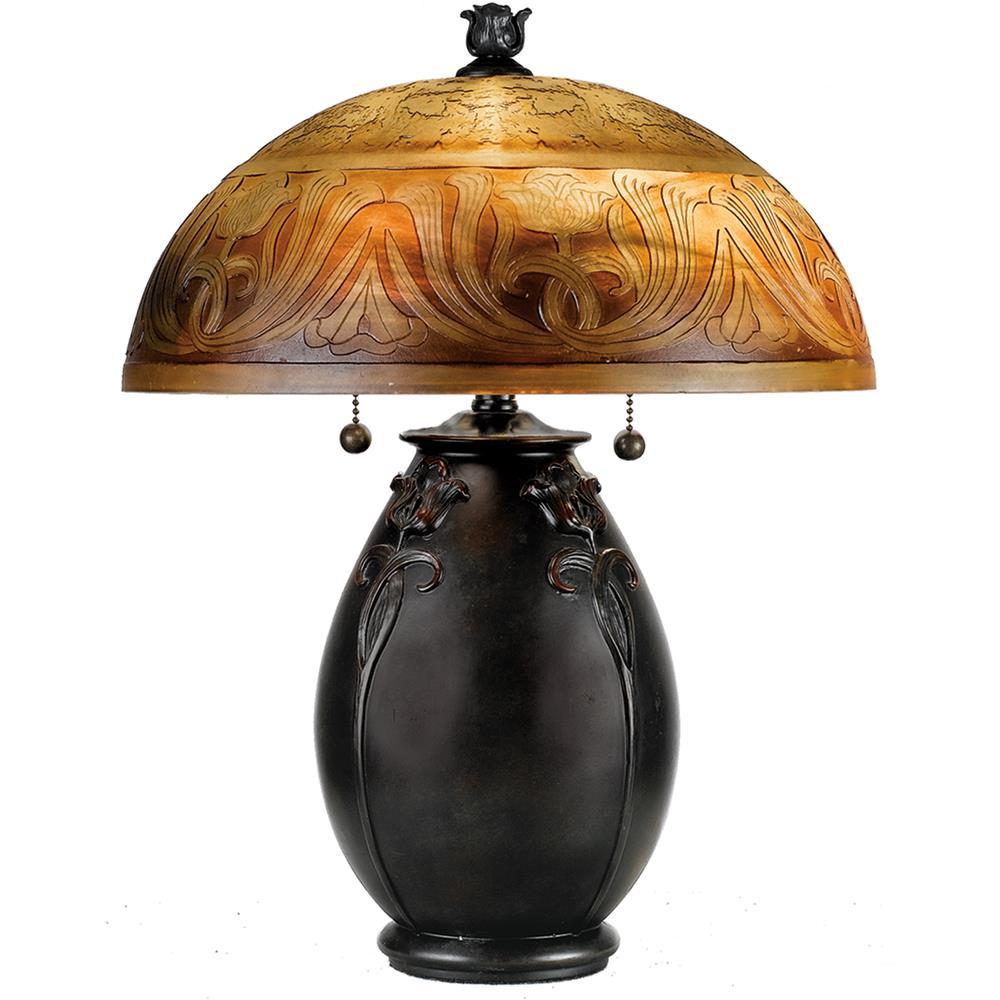 Quoizel Lighting QJ6781TR Glenhaven Table Lamp in Teco Rossa