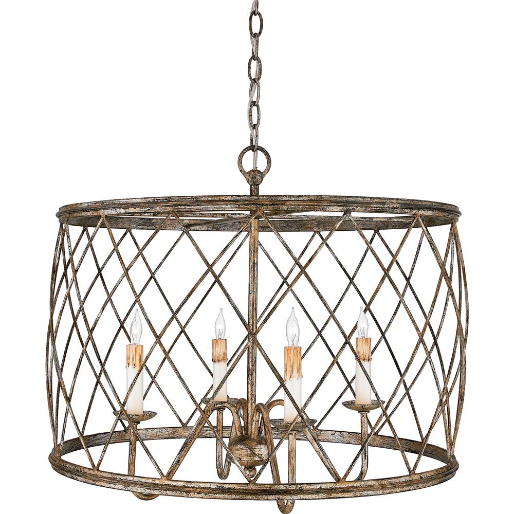 Quoizel Lighting RDY2823CS Dury Pendant in Century Silver Leaf