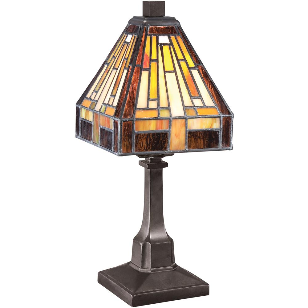 Bronze and silver table lamp ambience accent lamp table lamps lamps - Quoizel Lighting Tf1018tvb Quoizel Lighting Tf1018tvb Stephen Tiffany Table Lamp In Vintage Bronze