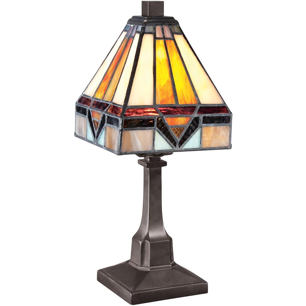 Quoizel Lighting TF1021TVB Holmes Tiffany Table Lamp in Vintage Bronze