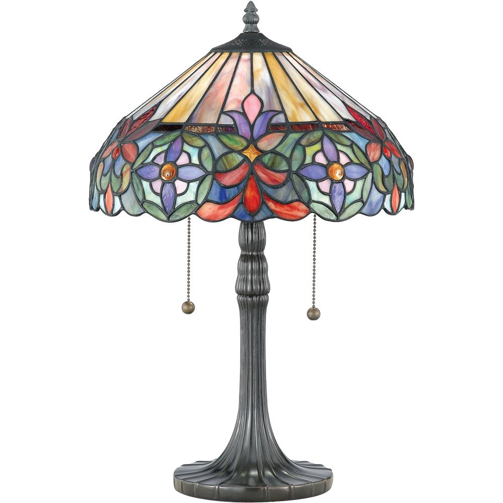 Quoizel Lighting TF6826VB Connie Tiffany Table Lamp in Vintage Bronze