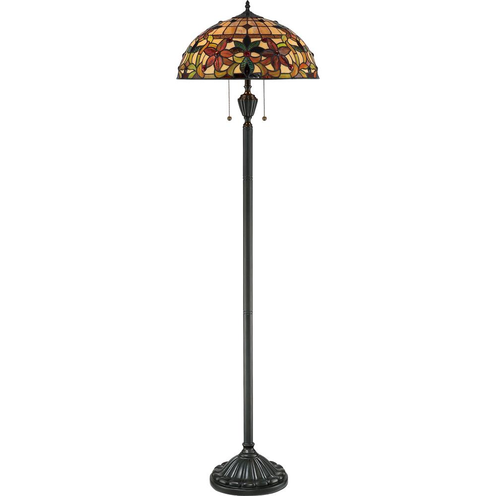 Quoizel Lighting TF878F Kami Tiffany Floor Lamp in Vintage Bronze