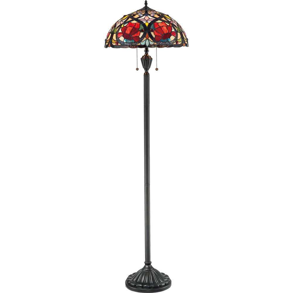Quoizel Lighting TF879F Larissa Tiffany Floor Lamp in Vintage Bronze