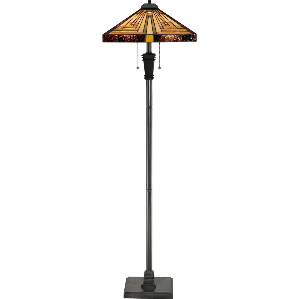 Quoizel Lighting TF885F Stephen Tiffany Floor Lamp in Vintage Bronze