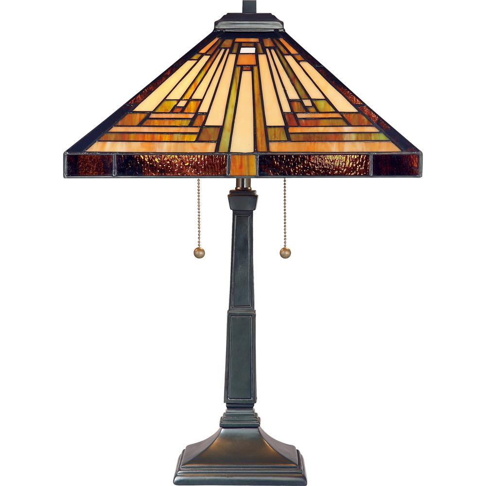 Quoizel Lighting TF885T Stephen Tiffany Table Lamp in Vintage Bronze