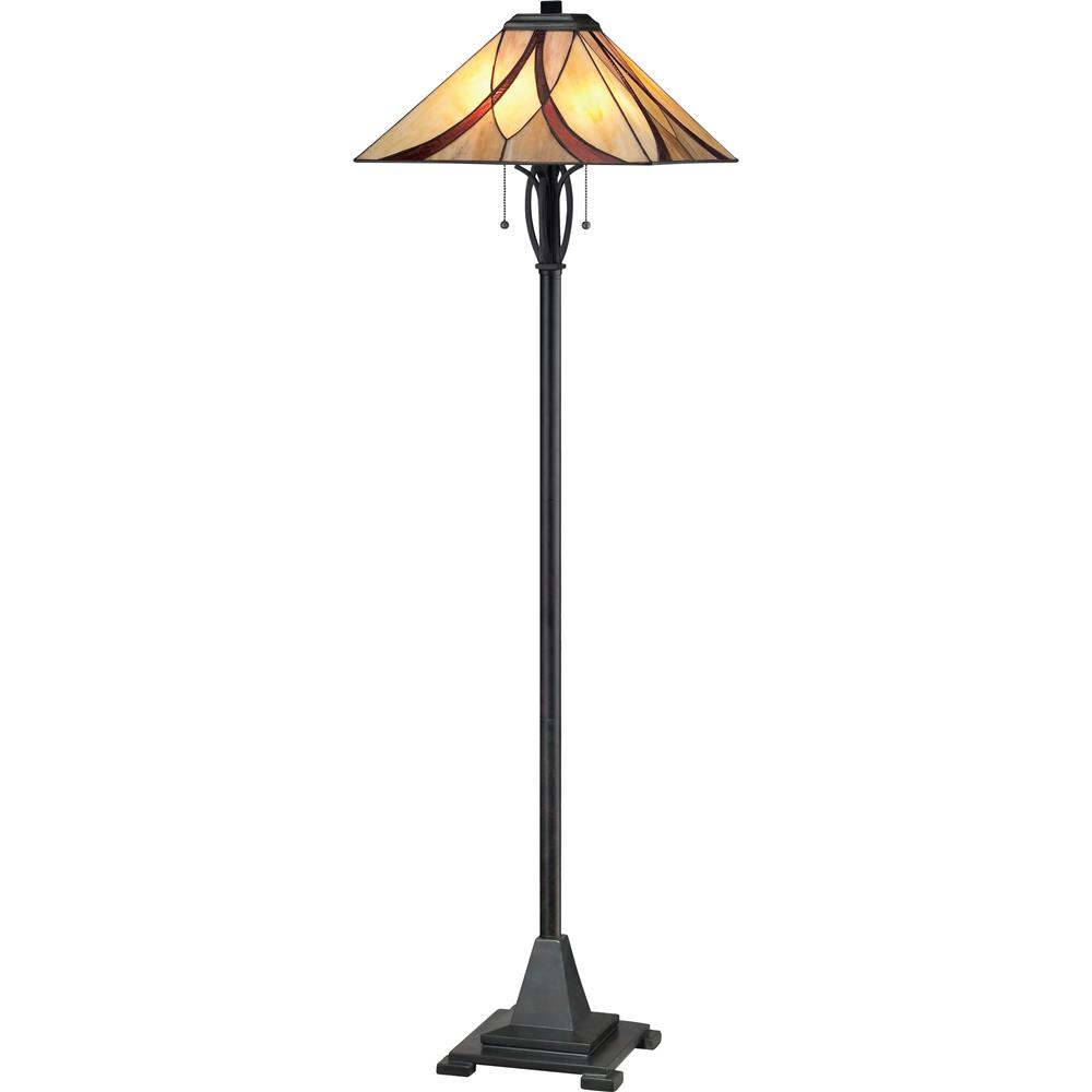 Quoizel Lighting TFAS9360VA Asheville Tiffany Floor Lamp in Valiant Bronze