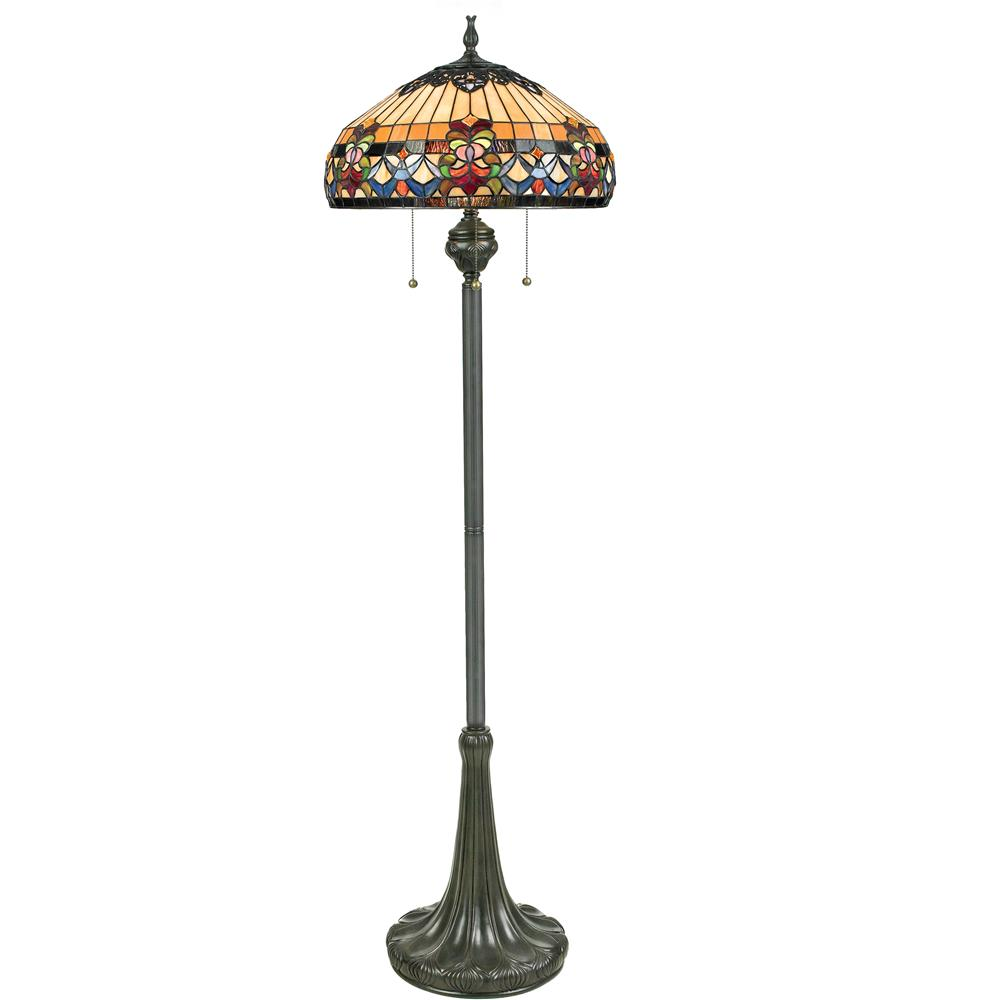 Quoizel Lighting TFBF9362VB Belle Fleur Tiffany Floor Lamp in Vintage Bronze