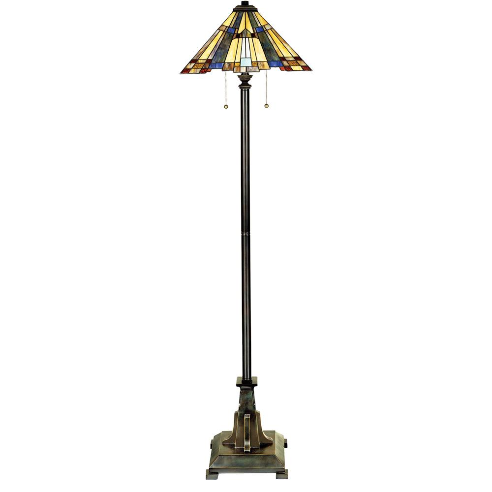 Quoizel Lighting TFF16191A5VA Inglenook Tiffany Floor Lamp in Valiant Bronze