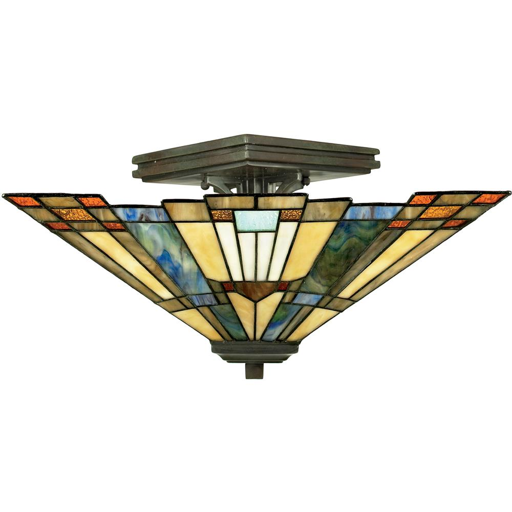 Quoizel Lighting TFIK1714VA Inglenook Semi-Flush Mount in Valiant Bronze