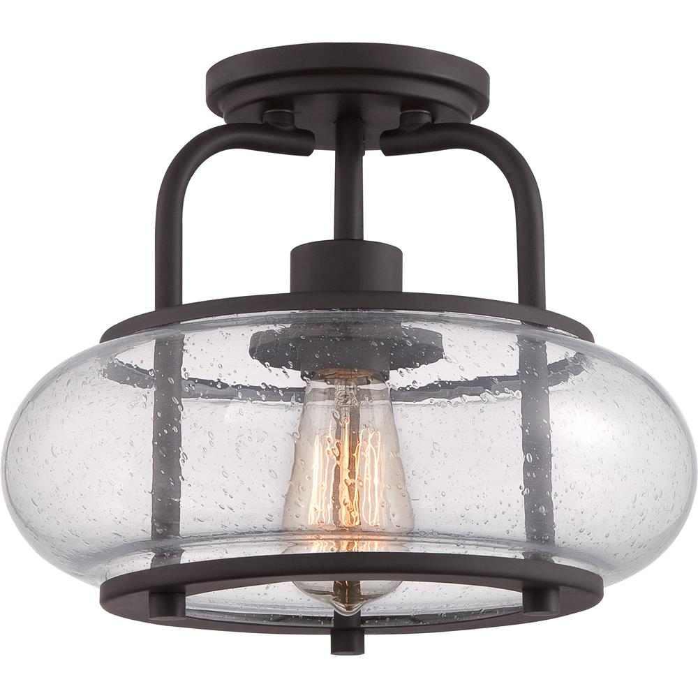 Quoizel Lighting TRG1712OZ 1 Light Trilogy Semi-Flush Mount in Old Bronze