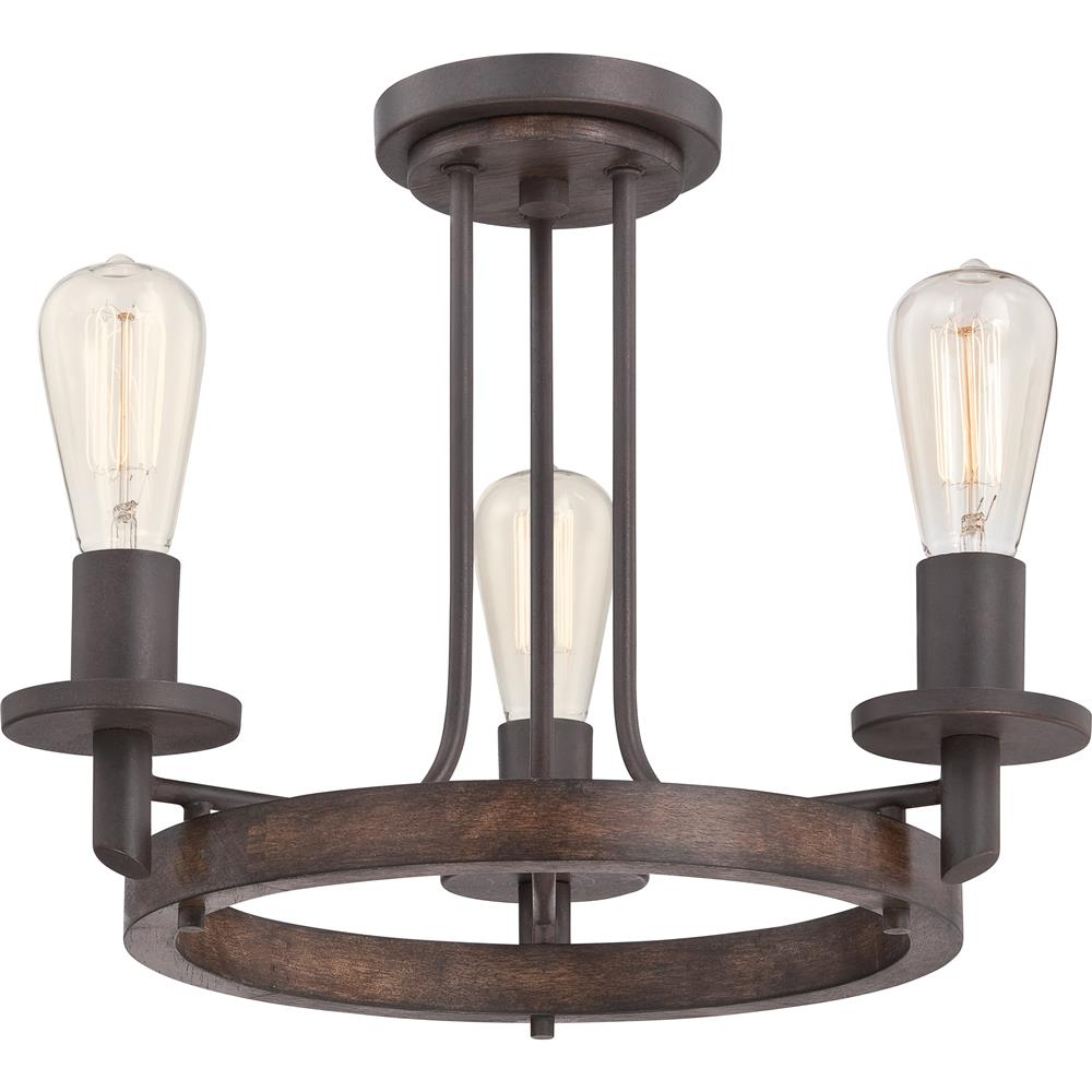Quoizel Lighting TVN1717DK Tavern Semi-Flush Mount in Darkest Bronze