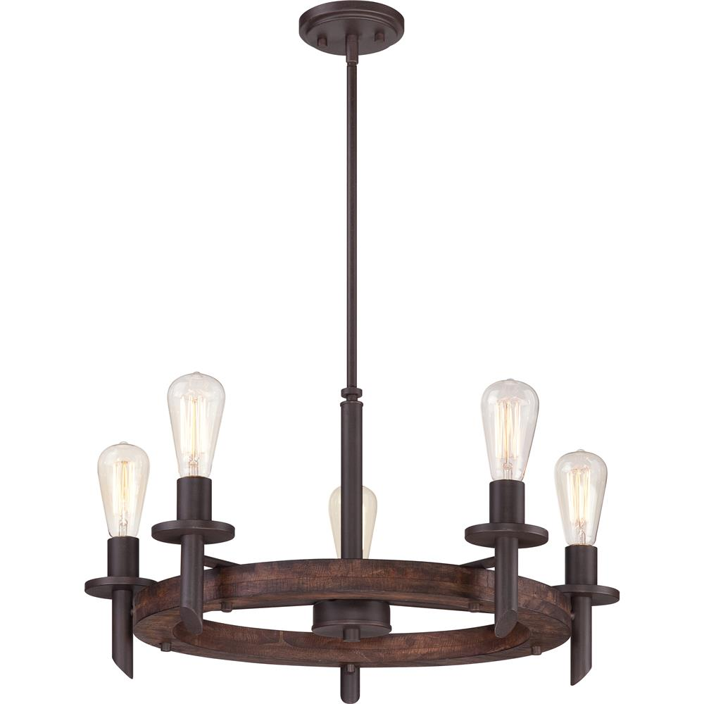 Quoizel Lighting TVN5005DK Tavern Chandelier in Darkest Bronze