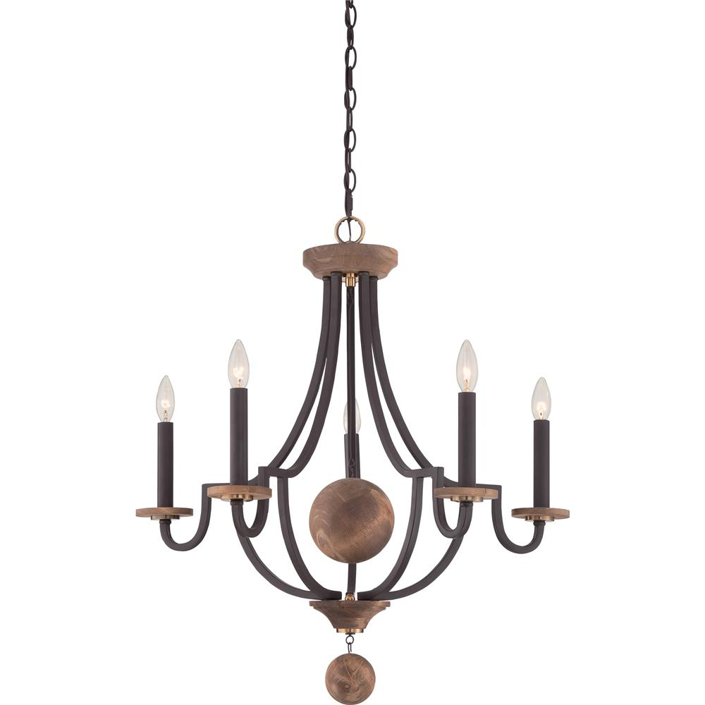 Quoizel Lighting WDM5005WT 5 Light Wyndmoor Chandelier in Western Bronze