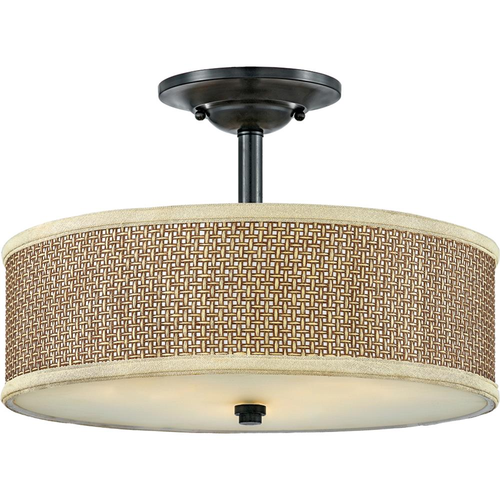 Quoizel Lighting ZE1717K Zen Semi-Flush Mount in Mystic Black