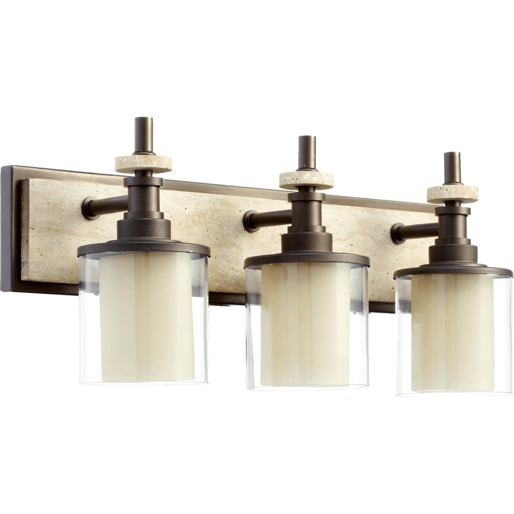 5064 3 86 quorum international 5064 3 86 concord 3 light bathroom fixture in oiled bronze. Black Bedroom Furniture Sets. Home Design Ideas