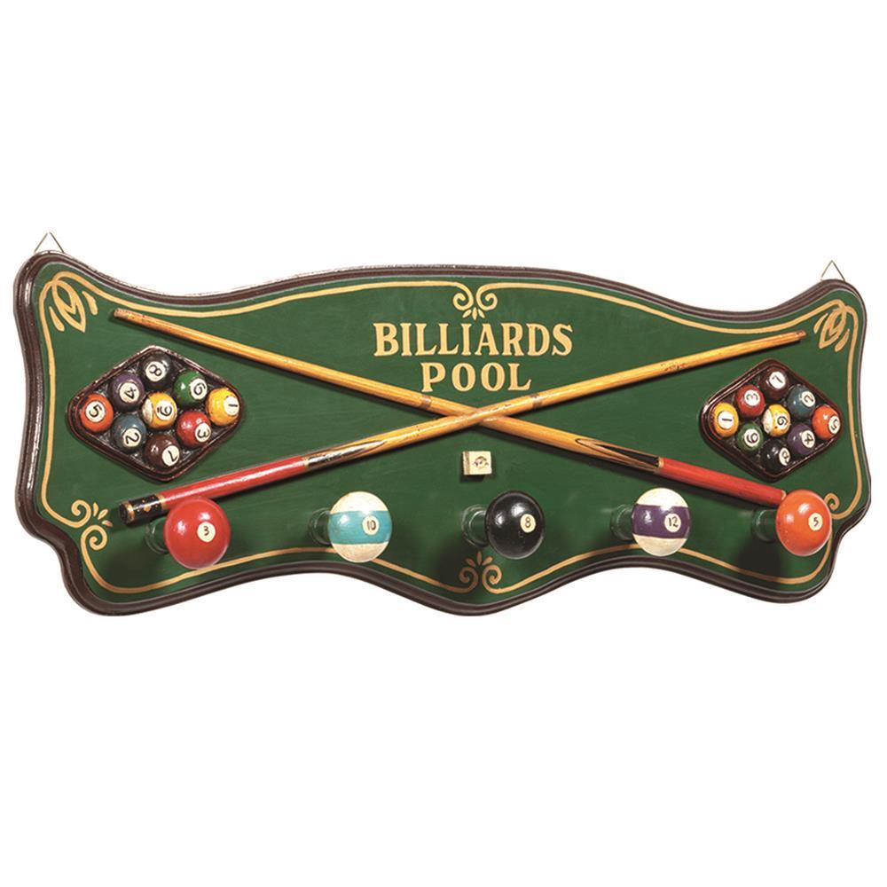 RAM Game Room R181 Pub Sign-Billiards Coat Rack