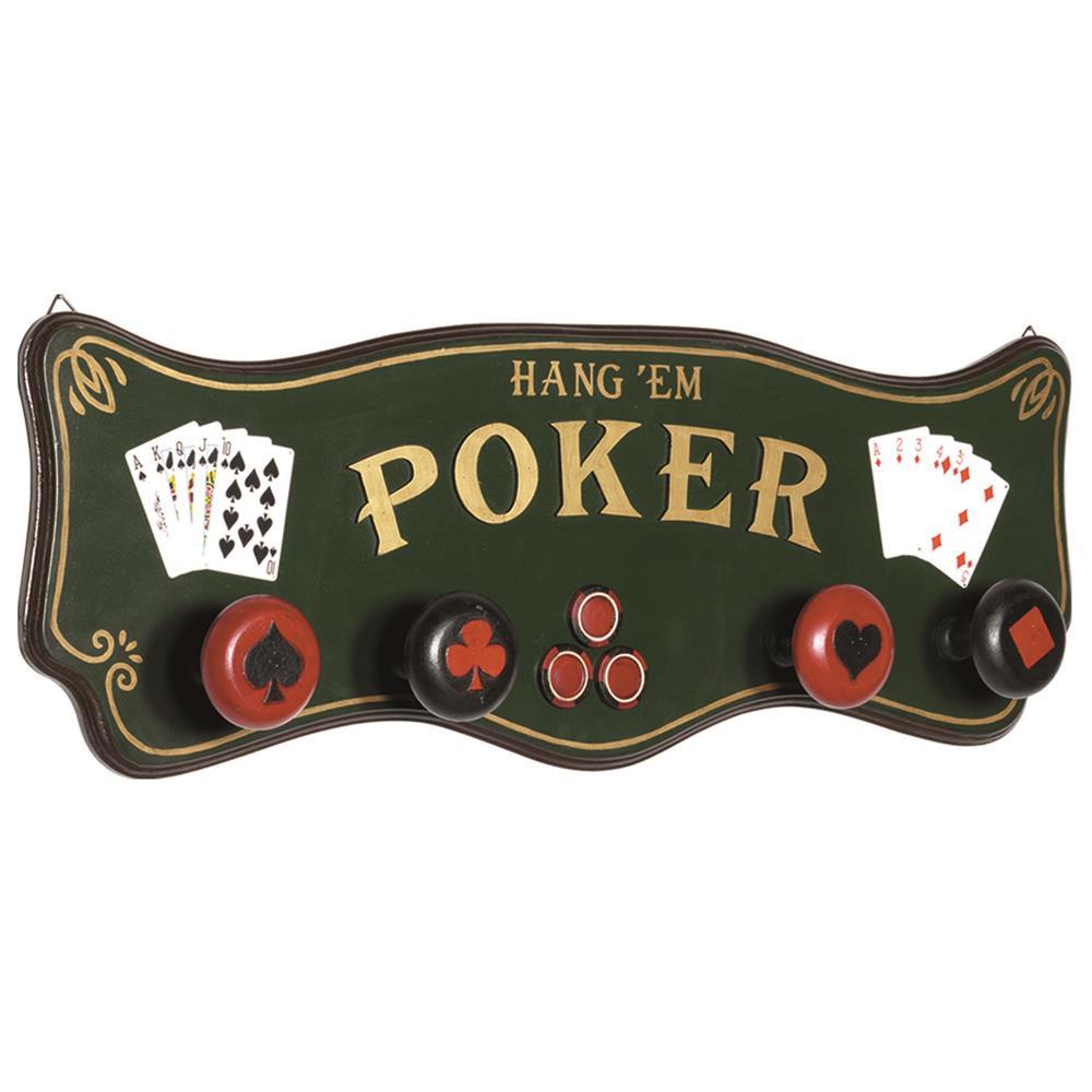 RAM Game Room R186 Pub Sign-Poker Coat Rack