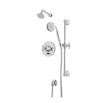 ROHL ACKIT28X-APC Shower Package Kit W/ Cross Handles in Polished Chrome