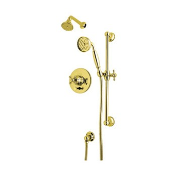 ROHL ACKIT28X-IB Shower Package Kit W/ Cross Handles in Inca Brass