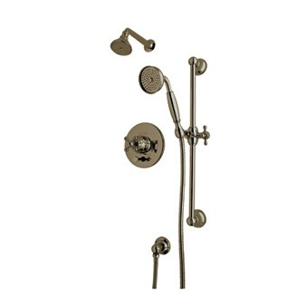 ROHL ACKIT28X-TCB Shower Package Kit W/ Cross Handles in Tuscan Brass