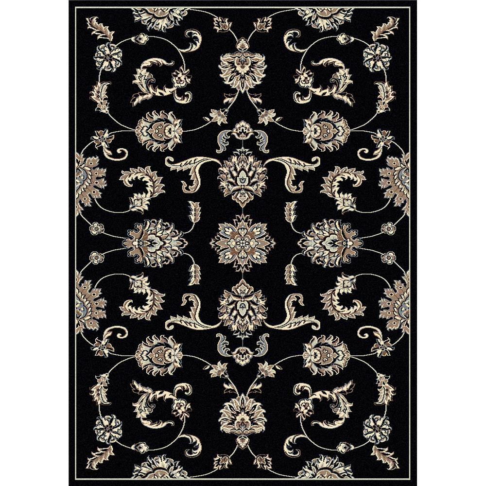 Radici USA 1869/0014/BLACK Alba Traditional Runner Rug in Black - 2