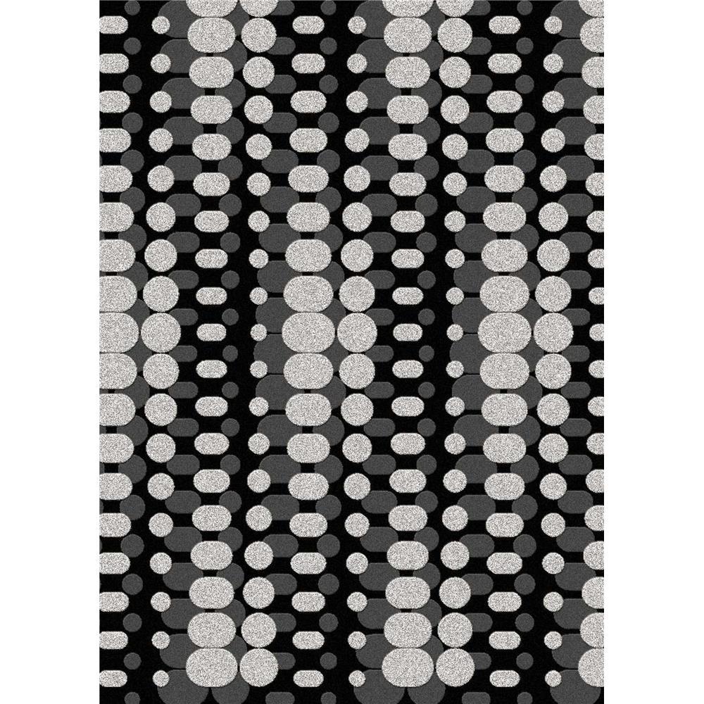 Radici USA 1820/2010/BLACK/SILV Bella Contemporary Rectangular Rug in Black - 3