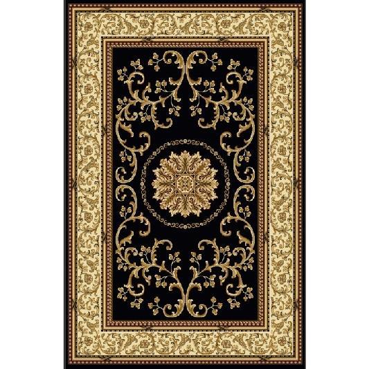 Radici USA 1419/1320/BLACK Noble Traditional Rectangular Rug in Black - 3
