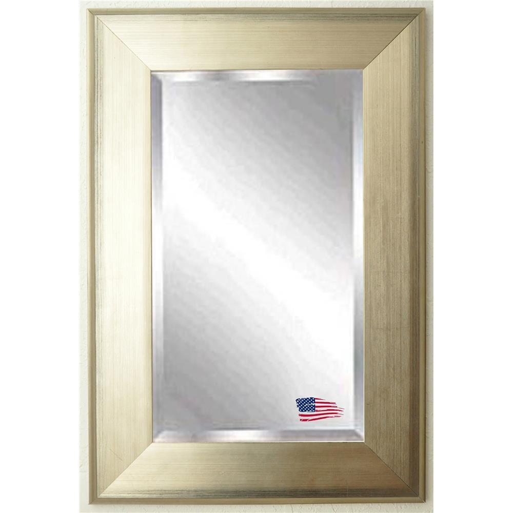 R004lv rayne mirrors r004lv jovie jane brushed silver for Mirror 42 x 36