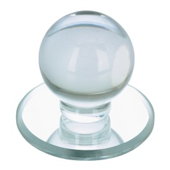 Richelieu Hardware BP50311 Contemporary Acrylic Knob for Glass Doors - 503 in Clear