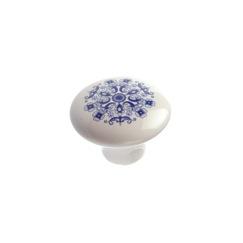 Richelieu Hardware BP60037308 Eclectic Ceramic Knob - 6003 in Blue Mosaic