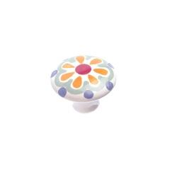 Richelieu Hardware BP60037326 Eclectic Ceramic Knob - 037 in Orange Flower
