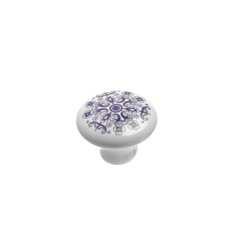 Richelieu Hardware BP60031308 Eclectic Ceramic Knob - 6003 in Blue Mosaic