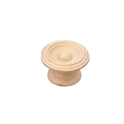 Richelieu Hardware BP81820838150 Eclectic Maple Wood Knob - 0838 in Unfinished Maple