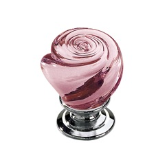 Richelieu Hardware BP903014095 Classic Glass Knob - 903 in Chrome , Pink