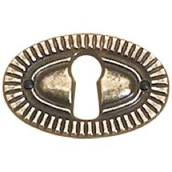 Richelieu Hardware 3640338BB Keyhole Plate in Burnished Brass