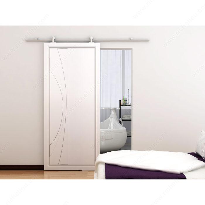 Richelieu 2460202ALPVC Contemporary Sliding Door Set For Suspended Wooden Door