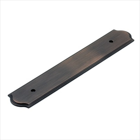 Richelieu Hardware Bp1040128Borb Classic Metal Pull Backplate 128MM Brushed Oil Rubbed Bronze Finish