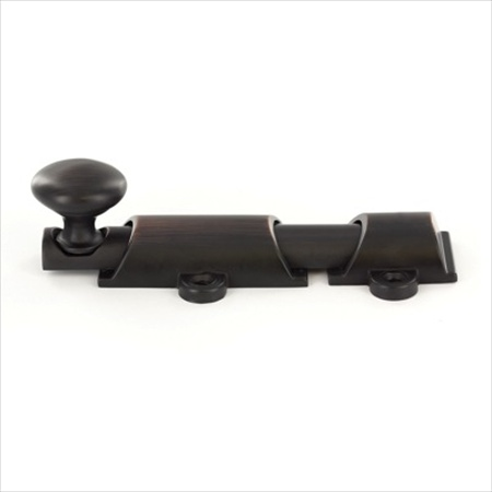 Richelieu Hardware Bp89106Borb Classic Metal Surface Bolt 6 Inch Brushed Oil Rubbed Bronze Finish