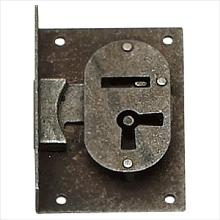 Richelieu Hardware 755302907 Classic Metal Surface Mount Lock 49X70MM Wrought Iron Finish