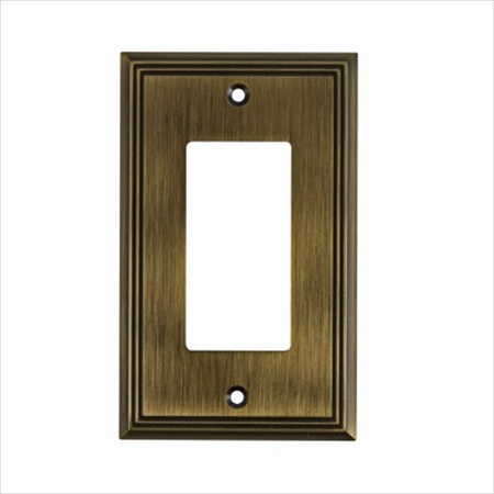 Richelieu Hardware Bp851Ae Contemporary Decorative Switch Plate 1 Toggle 125X77MM Antique English Finish