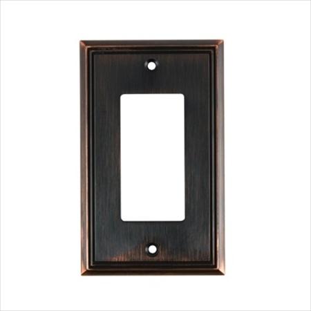 Richelieu Hardware Bp851Borb Contemporary Decorative Switch Plate 1 Toggle 125X77MM Burnish Oil Rubbed Bronze Finish
