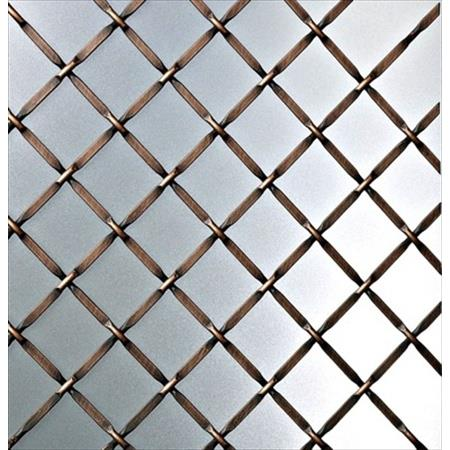 Richelieu Hardware 833246Borb Contemporary Metal Decorative Wire Mesh 48X72 Inch Brushed Oil Rubbed Bronze Finish