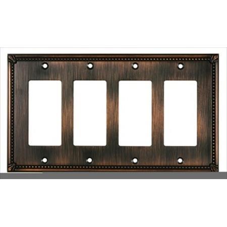 Richelieu Hardware Bp861111Borb Contemporary Decorative Switch Plate 4 Toggle 218X123MM Oil Rubbed Bronze Finish