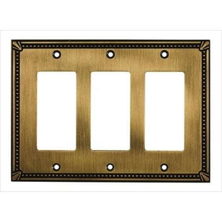 Richelieu Hardware Bp86111Ae Contemporary Decorative Switch Plate 172X123MM 3 Toggle Antique English Finish