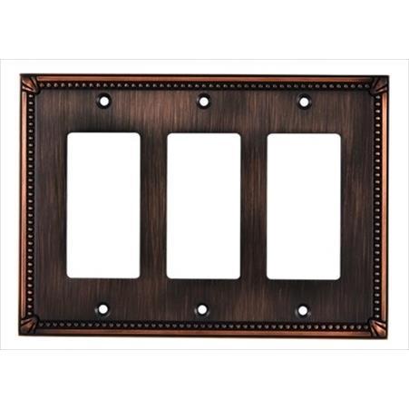 Richelieu Hardware Bp86111Borb Contemporary Decorative Switch Plate 172X123MM 3 Toggle Oil Rubbed Bronze Finish