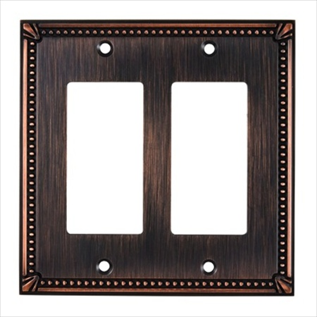 Richelieu Hardware Bp8611Borb Contemporary Decorative Switch Plate 123X123MM Burnish Oil Rubbed Bronze Finish