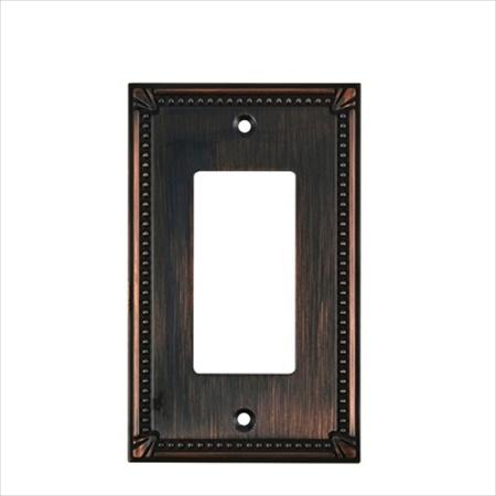 Richelieu Hardware Bp861Borb Contemporary Decorative 1 Switch Plate 125X77MM Burnish Oil Rubbed Bronze Finish
