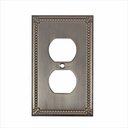 Richelieu Hardware Bp862195 Contemporary Decorative Electrical Double Switch Plate 125X77MM Brushed Nickel Finish