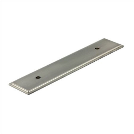 Richelieu Hardware Bp104596195 Rectangular Metal Pull Backplate 96MM Brushed Nickel Finish