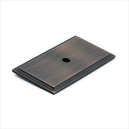 Richelieu Hardware Bp1045Borb Rectangular Knob Backplate Brushed Oil Rubbed Bronze Finish